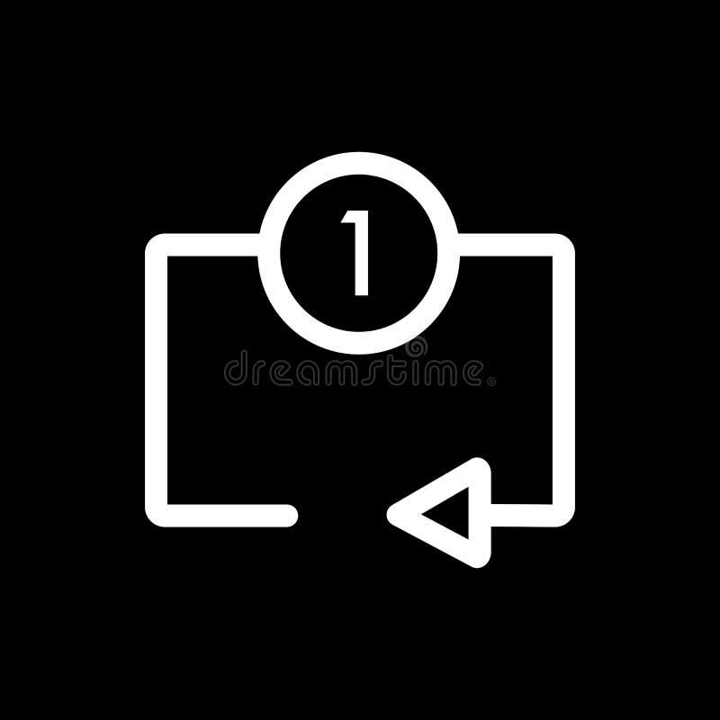 Repeat Media Player Icon. Repeat One Track Symbol. Stock ...