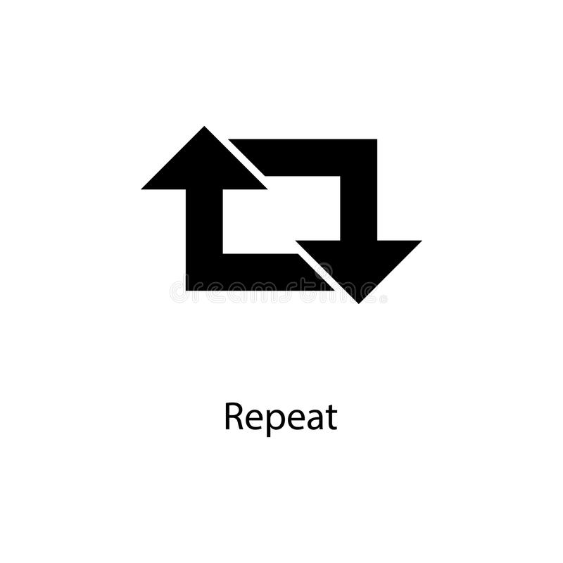 repeat sign icon. Element of minimalistic icon for mobile concept and web apps. Signs and symbols collection icon for websites, we royalty free illustration