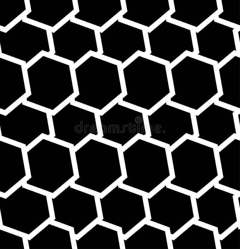 Download Repeatable безшовная картина с опрокинутыми, перекрытыми шестиугольниками G Иллюстрация вектора - иллюстрации насчитывающей тазик, monochrome: 81801797