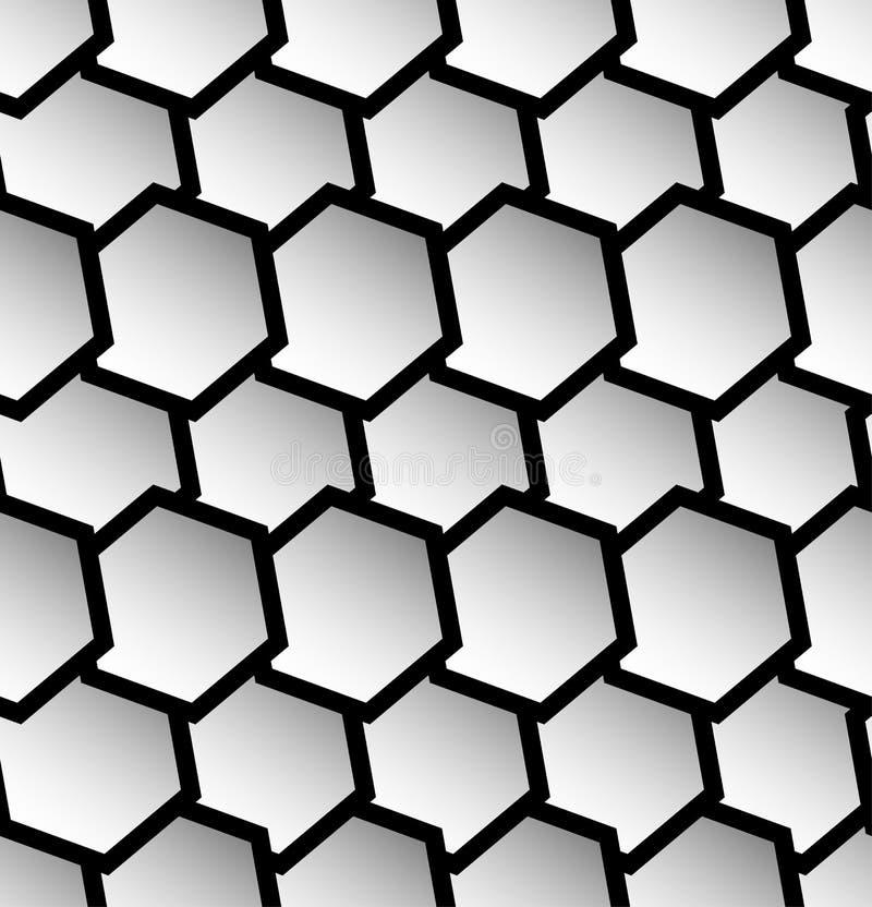 Download Repeatable безшовная картина с опрокинутыми, перекрытыми шестиугольниками G Иллюстрация вектора - иллюстрации насчитывающей royalty, тазик: 81801800