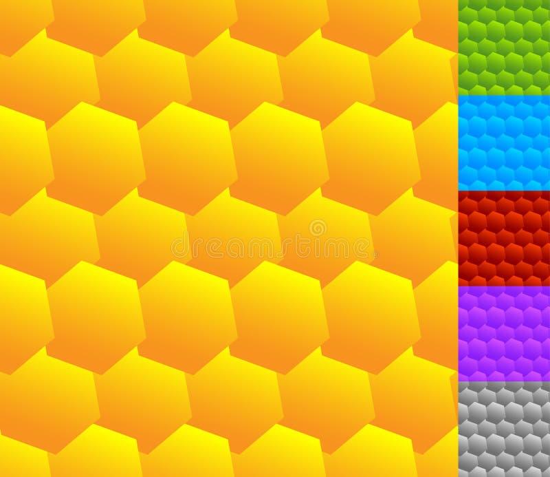 Download Repeatable безшовная картина с опрокинутыми, перекрытыми шестиугольниками G Иллюстрация вектора - иллюстрации насчитывающей шестиугольно, сетка: 81801819