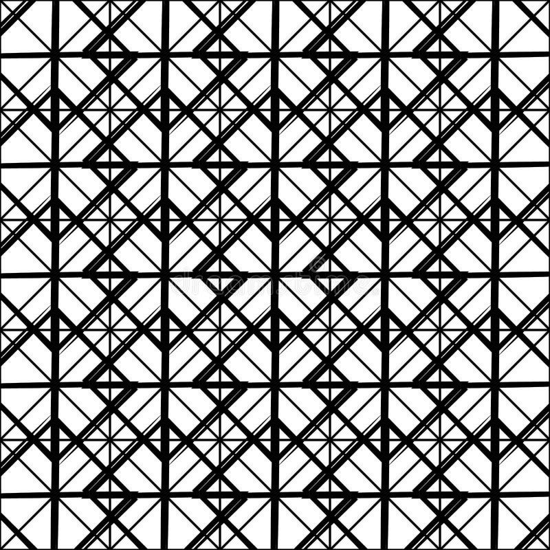 Download Repeatable детальная решетка, картина сетки Черно-белая версия Иллюстрация вектора - иллюстрации насчитывающей детально, сторонника: 81803454
