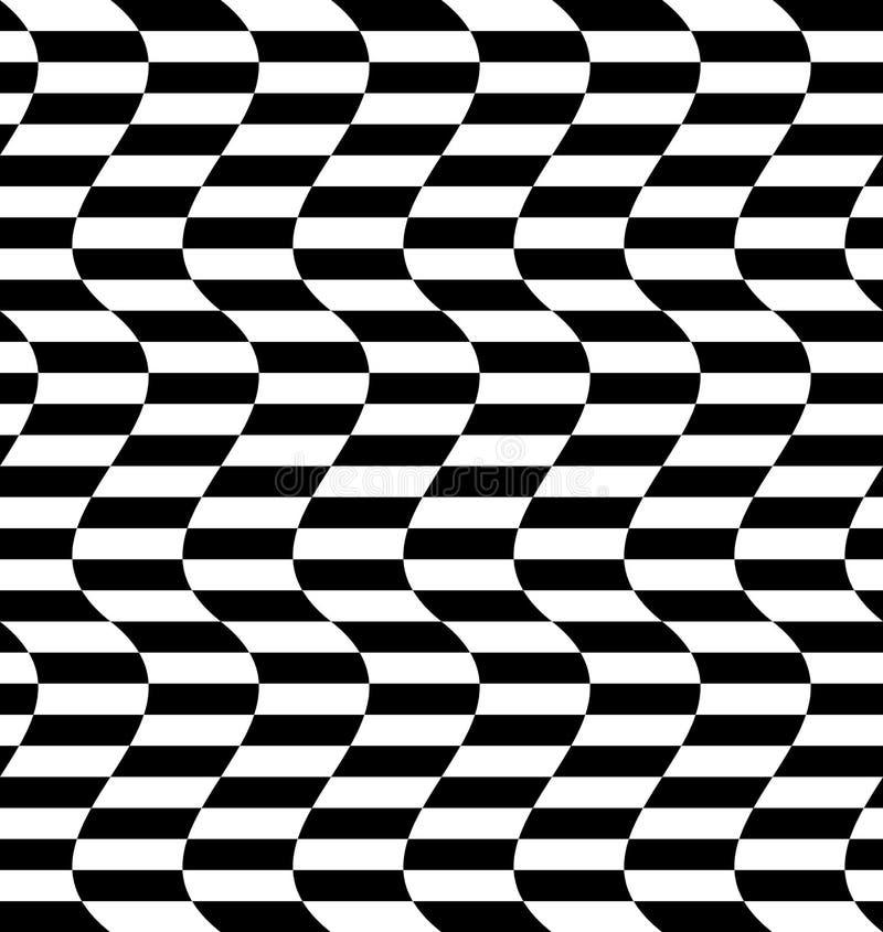 Download Repeatable передернутая картина с прямоугольниками, черно-белое Te Иллюстрация вектора - иллюстрации насчитывающей картина, бульвара: 81810127