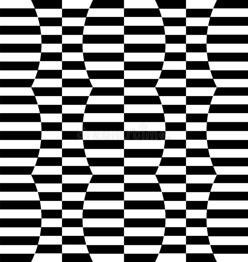 Download Repeatable передернутая картина с прямоугольниками, черно-белое Te Иллюстрация вектора - иллюстрации насчитывающей разносторонне, искажение: 81810142