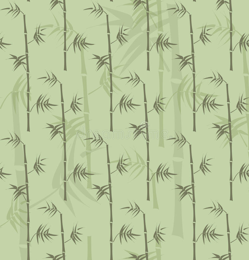 Repeatable bambustamtextur stock illustrationer
