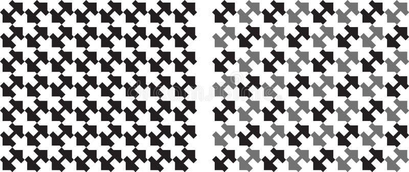Repeatable modell för fyrkanter sömlöst i svartvitt vektor vektor illustrationer