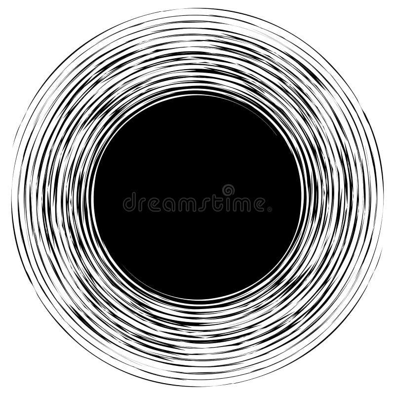 Repeatable modell med slumpmässiga former abstrakt geometriskt vektor illustrationer
