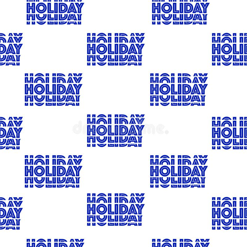 """Free Repeatable Of In Wording """"HOLIDAY""""  In Electric Blue Color Seamless Pattern In Vector Design For Fashion, Fabric ,web, Royalty Free Stock Photo - 154612665"""