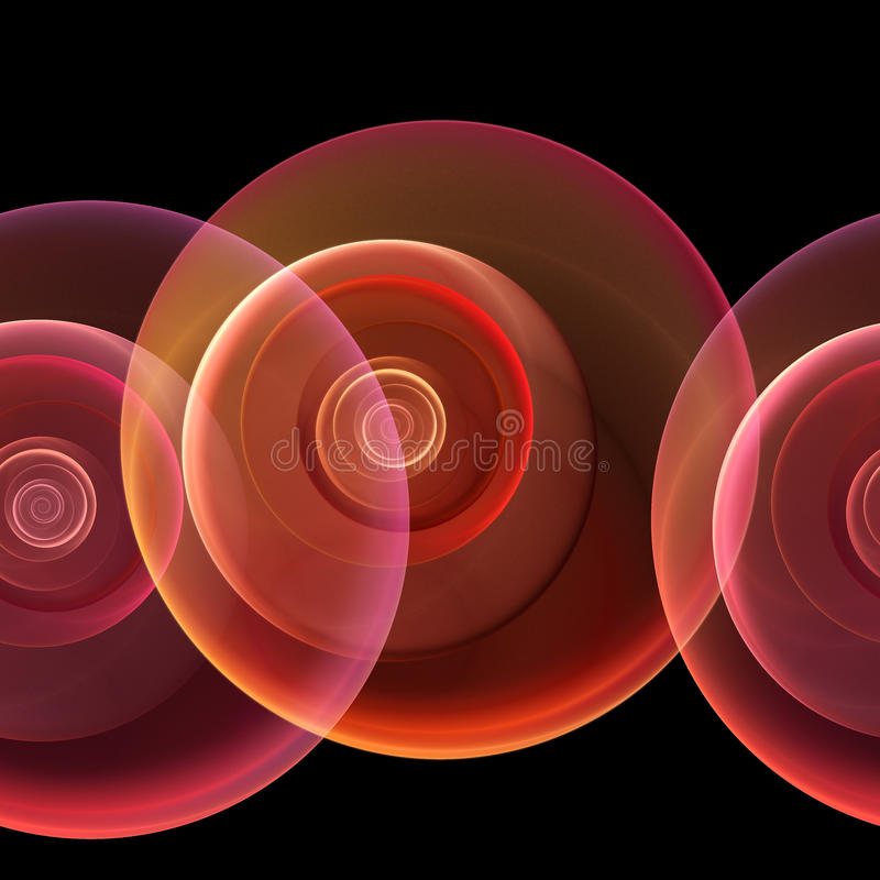 repeatable seamless för fractal stock illustrationer