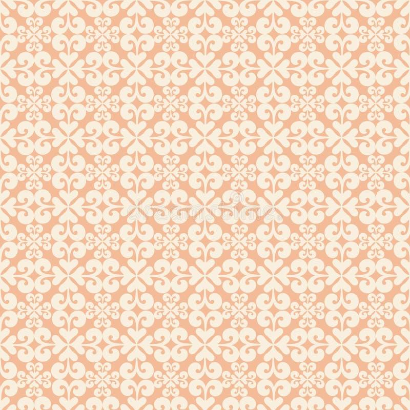 repeatable seamless swirl för orange modell royaltyfri illustrationer