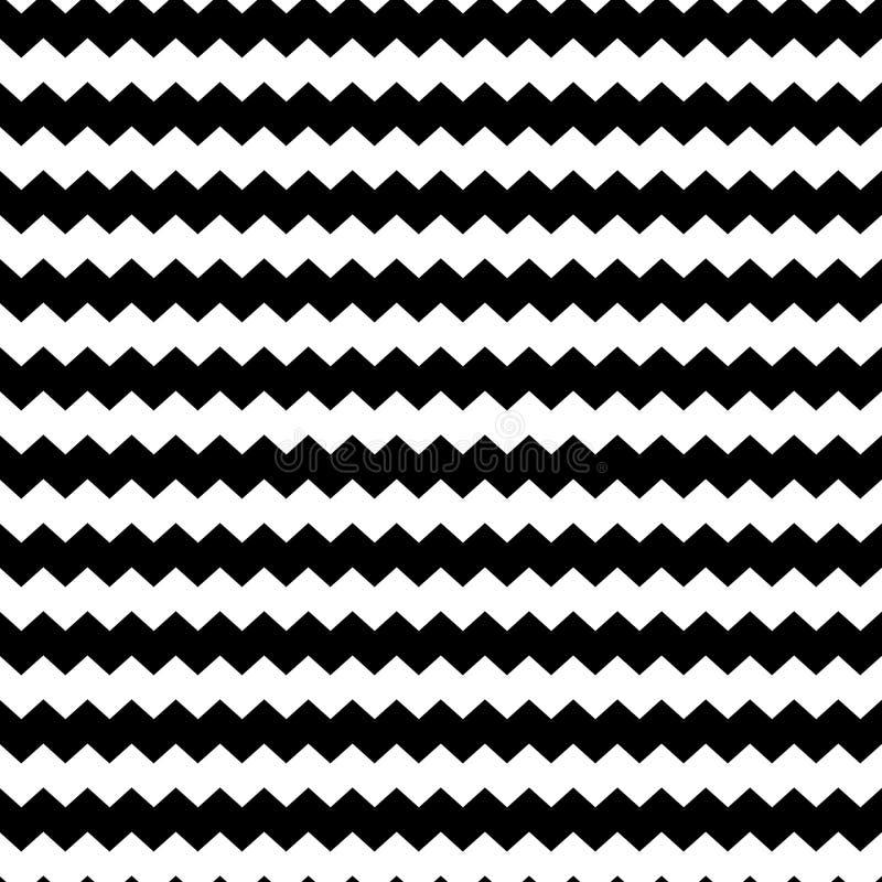 Repeatable tegelplatta för diagonal modell för sicksack sömlös för textiltapetbakgrund eller inpackningspapper, svarta linjer geo stock illustrationer