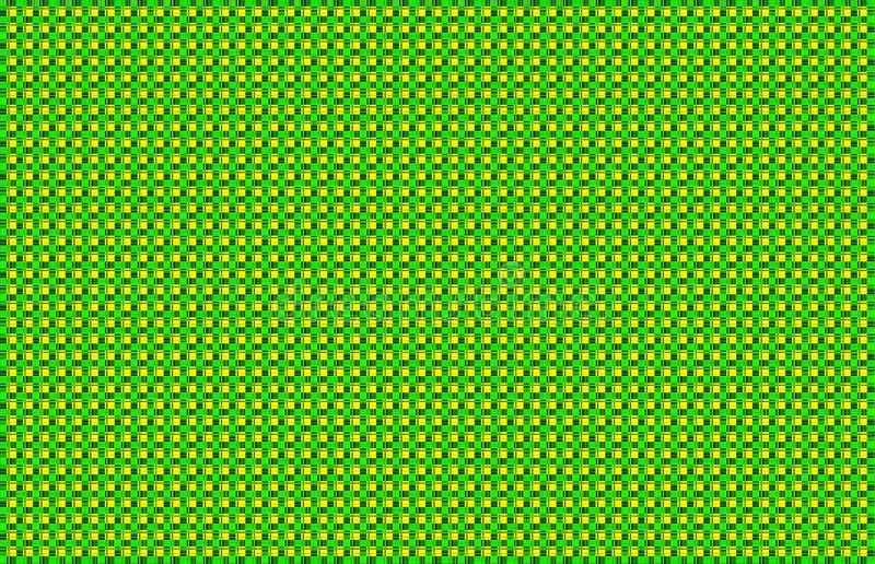 Yellow Green Woven Basketweave Abstract Background vector illustration