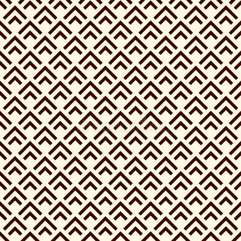 Repeated Chevrons Abstract Wallpaper Asian Traditional Ornament With Scallops Mountain Stamp Motif Seamless Surface Pattern Scales