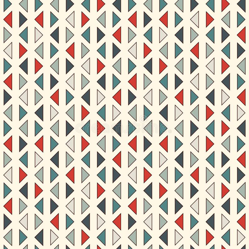 Repeated mini triangles on white background. Simple abstract wallpaper. Seamless pattern design with geometric figures. Repeated mini triangles on white stock illustration