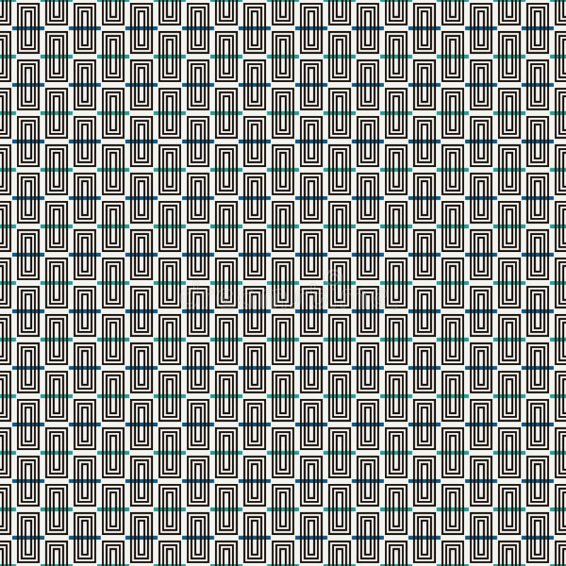 Repeated vertical rectangular blocks background. Bricks motif. Contemporary seamless pattern with geometric ornament. Repeated vertical rectangular blocks royalty free illustration