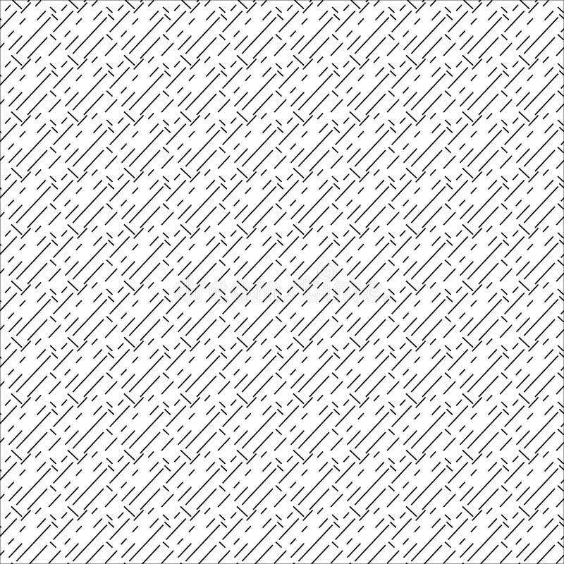 Repeating abstract background with chaotic strokes. Seamless pattern. stock illustration