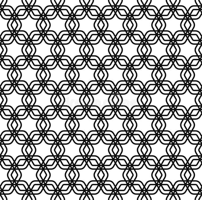 Repeating black and white grid pattern. Background stock illustration