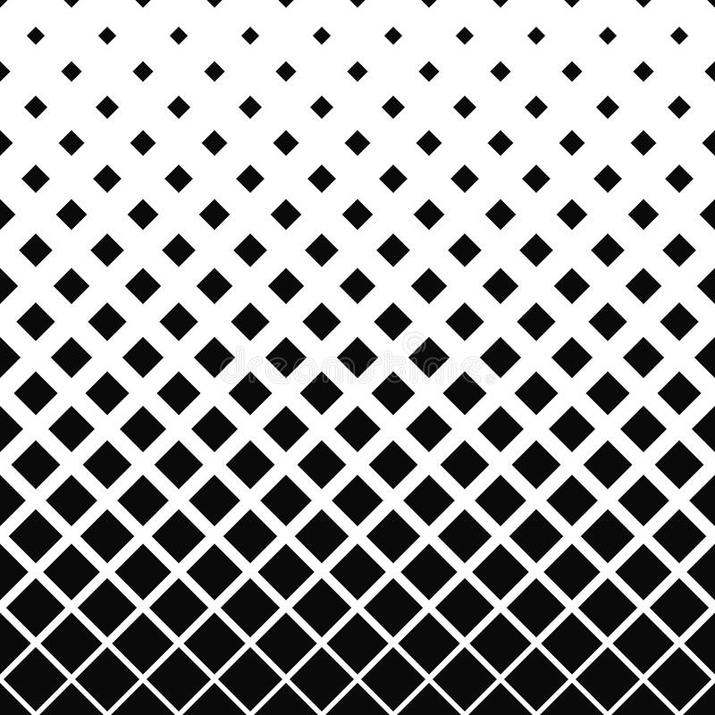 Repeating black and white square pattern stock illustration