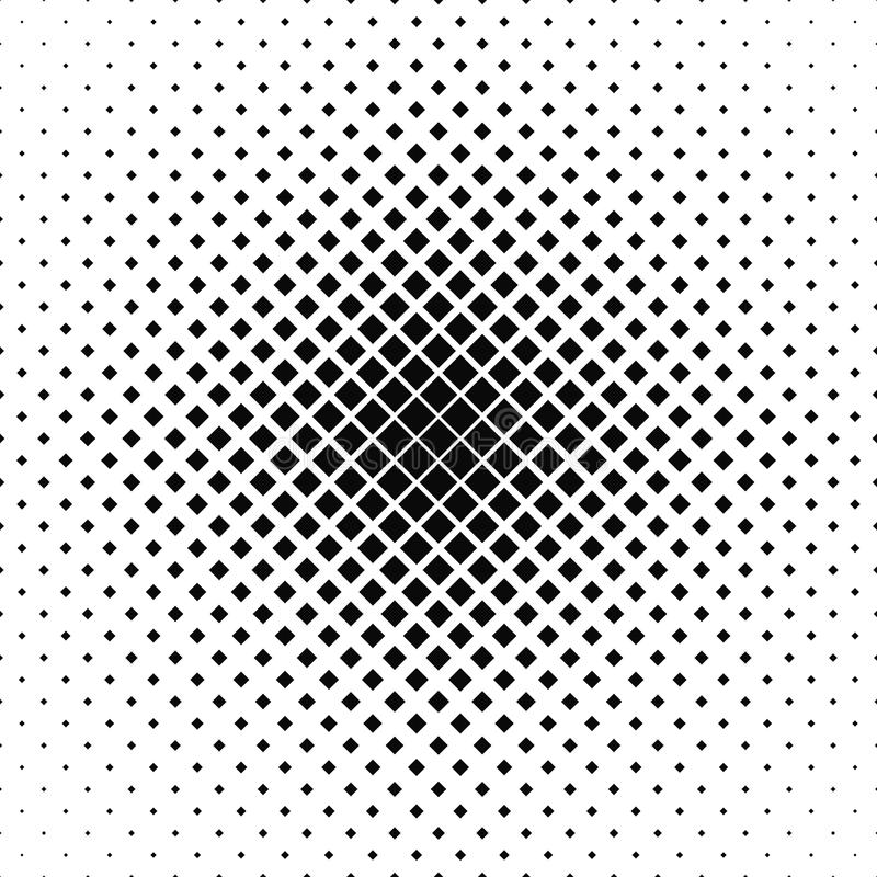 Repeating black white vector square pattern royalty free illustration