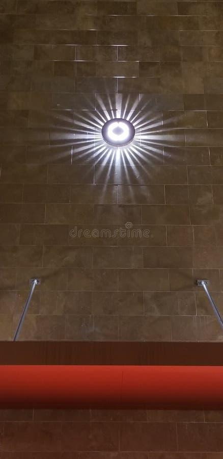 Texture Series - Starburst Light on Tile Background for Web Design and Home Design Planning stock image