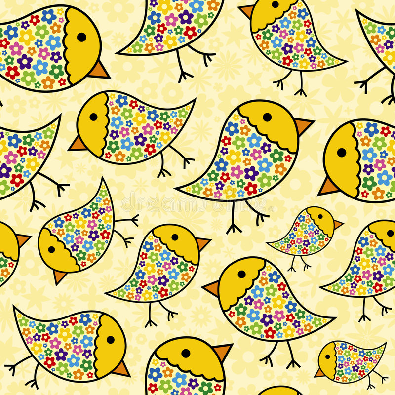 Repeating Chick Background royalty free illustration