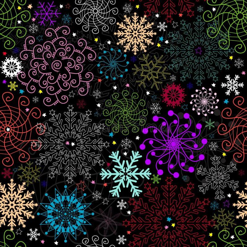 Download Repeating Dark Christmas Pattern Stock Vector - Image: 16248503
