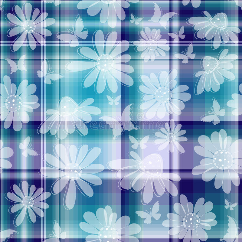 Download Repeating Floral Checkered Pattern Stock Vector - Image: 23371892