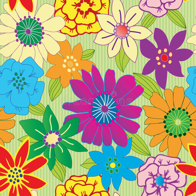 Repeating Flower Background royalty free illustration