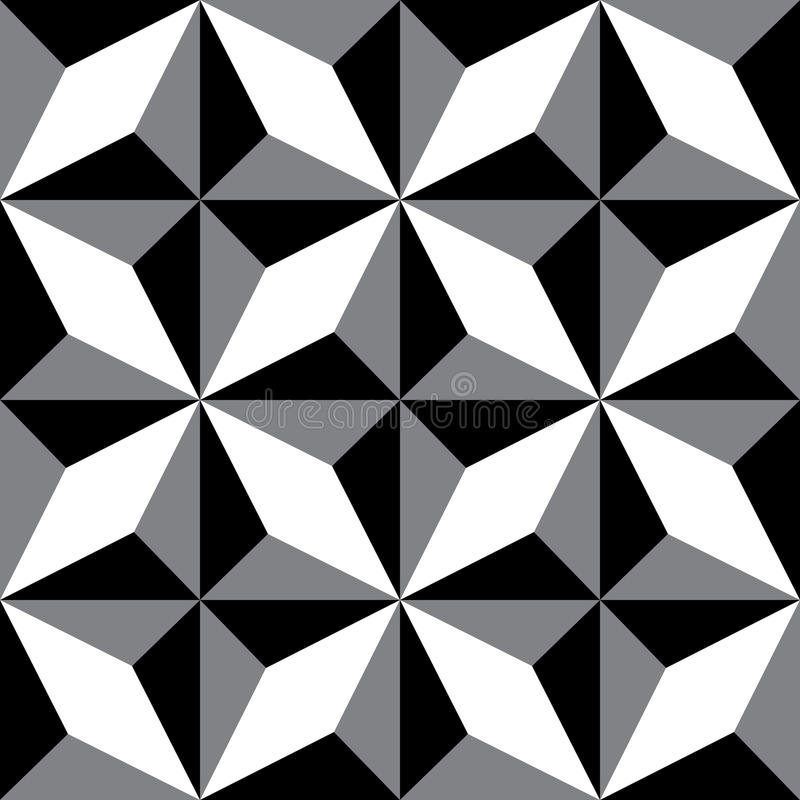 Repeating geometric patterns. Black & White decorative texture. Repeating geometric tiles. Vector seamless background. Modern graphic design vector illustration