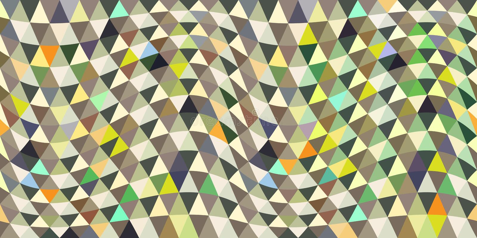 Repeating geometric tiles with triangles stock illustration