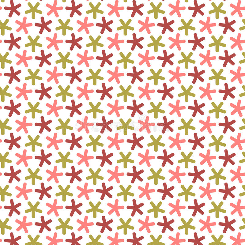 Download Repeating Stars With Round Angles,  Seamless Pattern. Stock Vector - Image: 32483496
