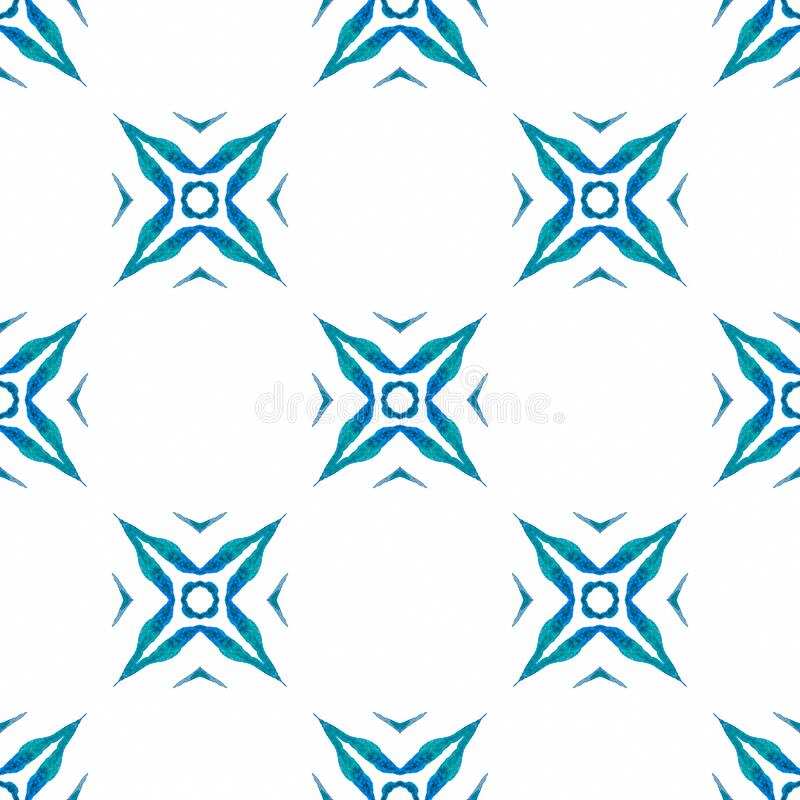 Repeating striped hand drawn border. Blue neat stock image