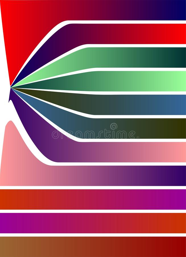 Repel Colorful strips white background shaded strips vivid vector illustration wallpaper. Many uses for advertising, book page, paintings, printing, mobile royalty free illustration