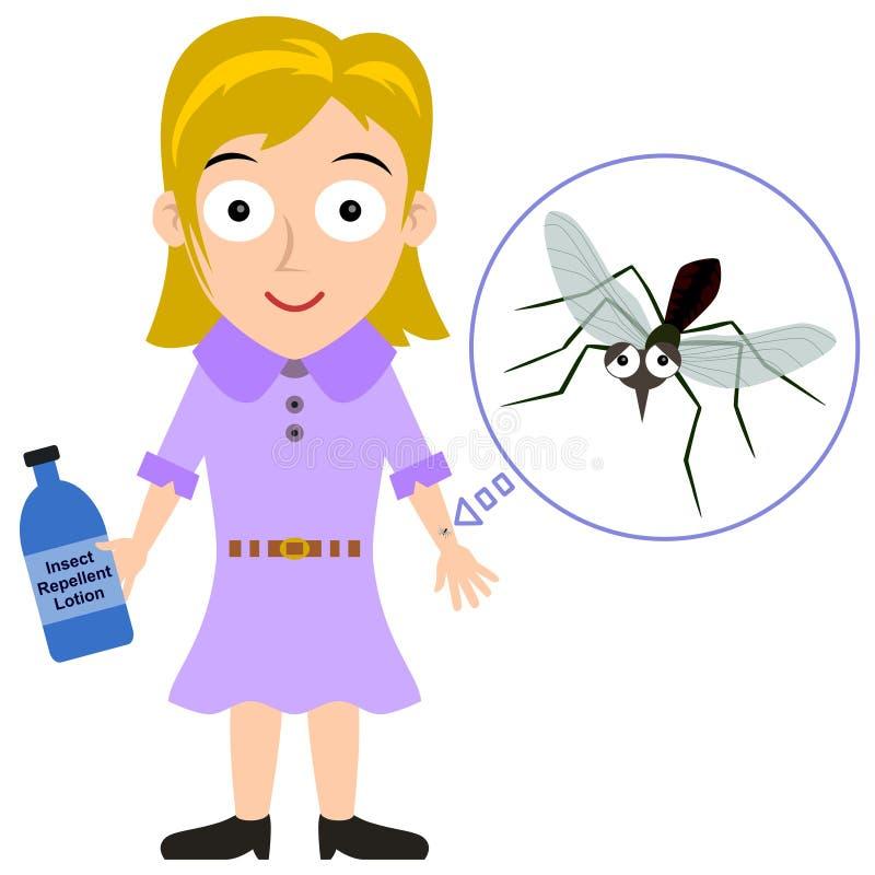 Repelente de insetos ilustração royalty free