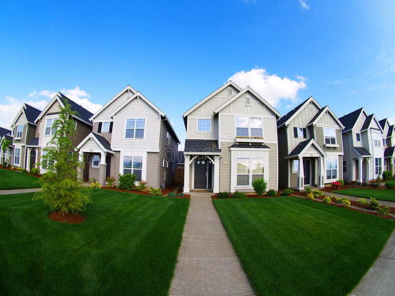 Repetetive Family Homes royalty free stock image