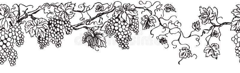 Repetição da barra da uva ilustração stock