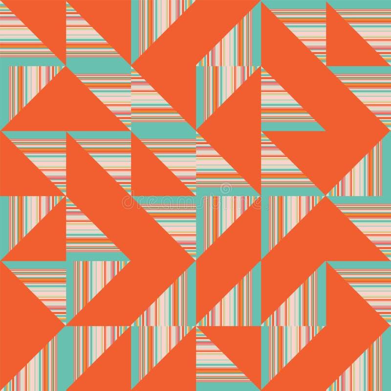 Repetição sem emenda geométrica do teste padrão de Truchet do sumário do vetor ilustração do vetor