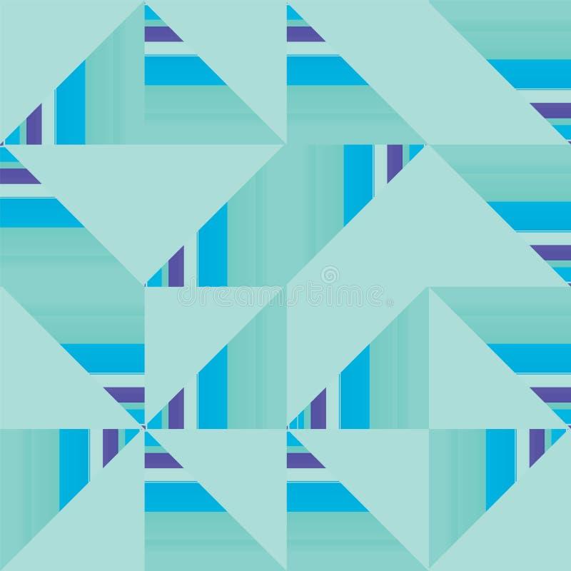 Repetição sem emenda geométrica do teste padrão de Truchet do sumário do vetor ilustração stock