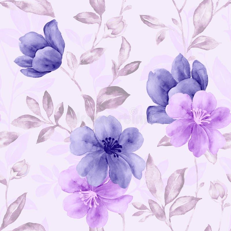 Repetição vívida floral ilustração do vetor