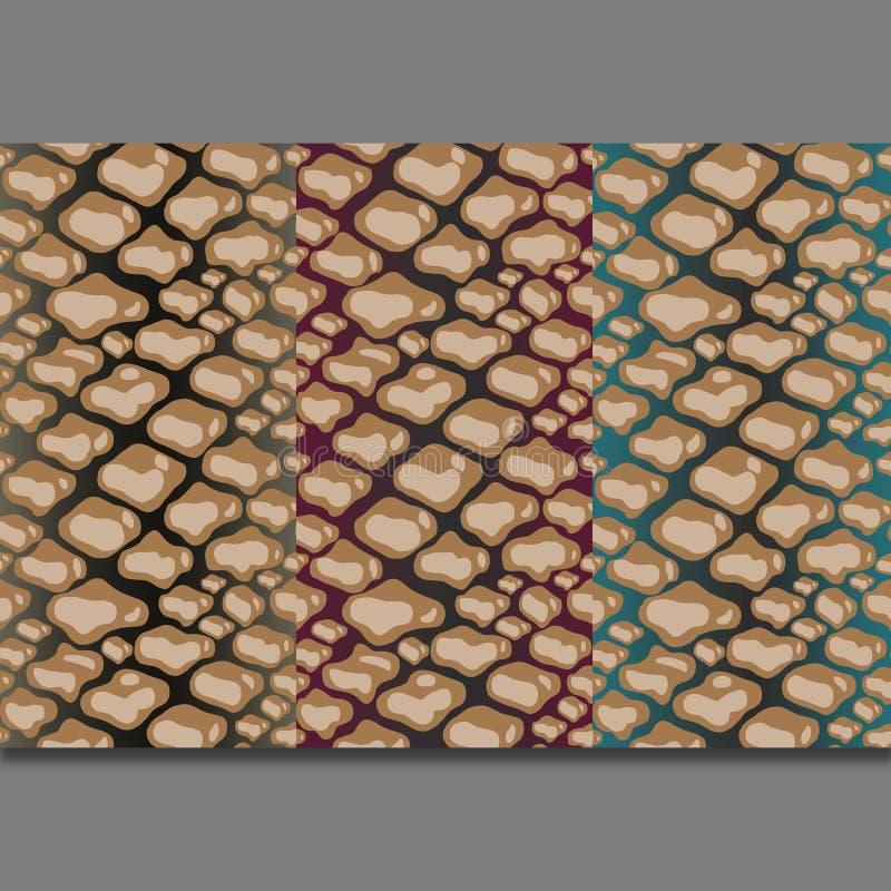 Repeti??o da textura do teste padr?o da pele de serpente sem emenda C?pia na moda da forma, fundo Ornamento gr?fico ilustração do vetor