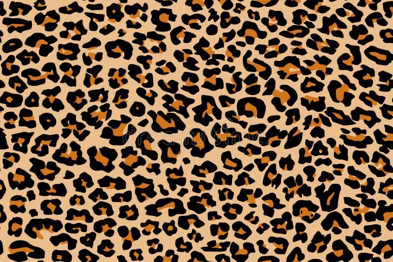 Repetición de la textura del modelo del leopardo inconsútil imágenes de archivo libres de regalías
