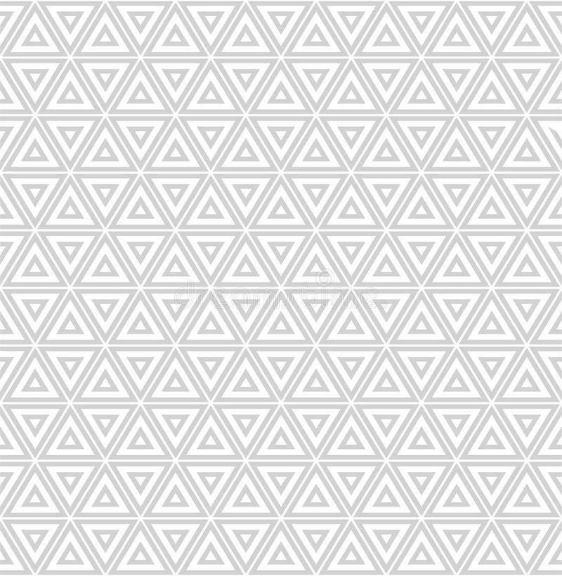 Repetición de las tejas geométricas con los triángulos rayados stock de ilustración