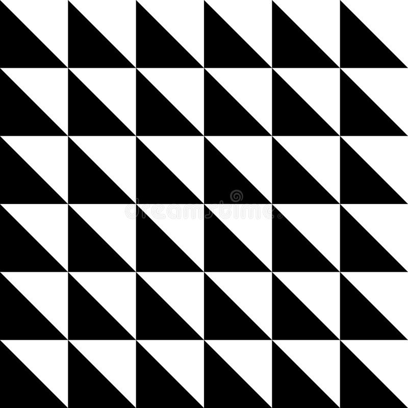 Repetición de las tejas geométricas con los triángulos Textura decorativa negra y blanca ilustración del vector
