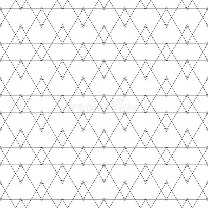 Repetición de las tejas geométricas con los triángulos Vector ilustración del vector