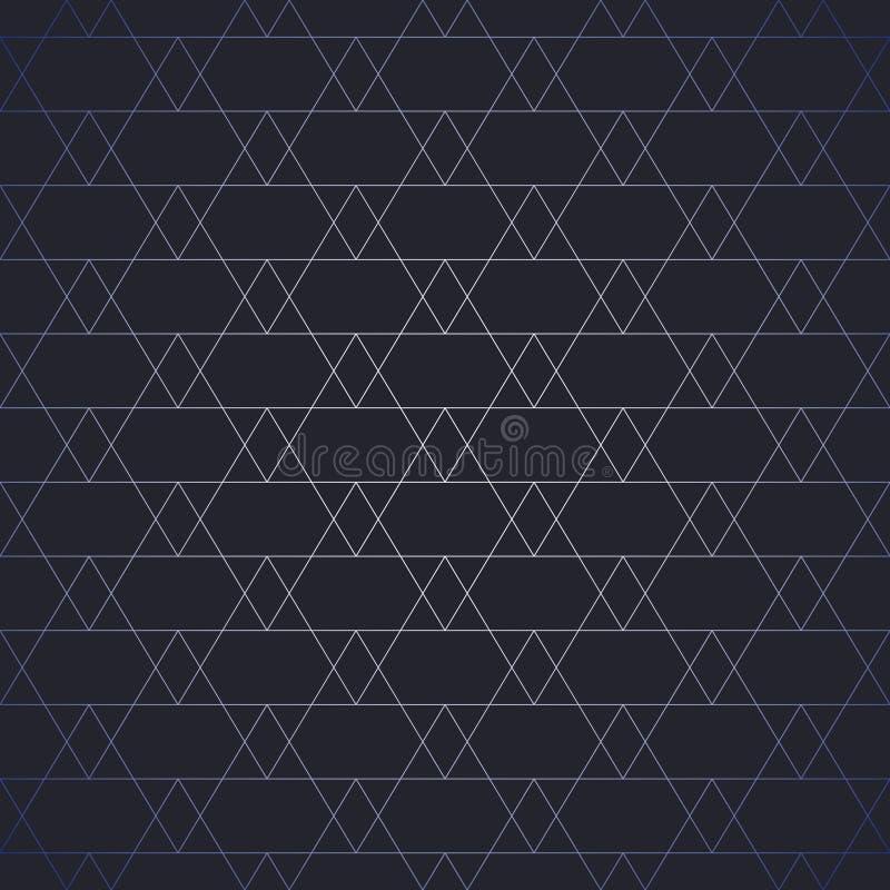 Repetición de las tejas geométricas con los triángulos Vector stock de ilustración
