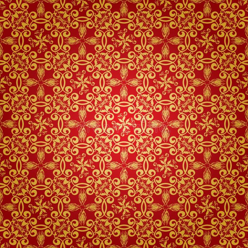 Repetición de lujo floral stock de ilustración