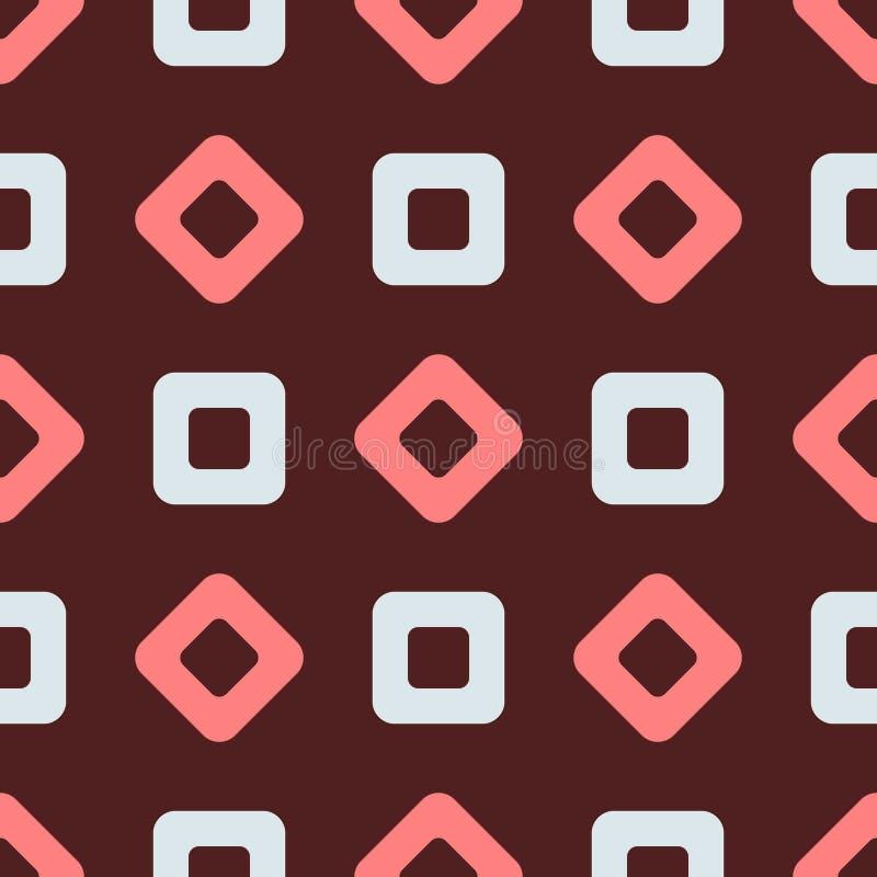 Repetición de Rhombus y de cuadrados Modelo inconsútil geométrico simple libre illustration