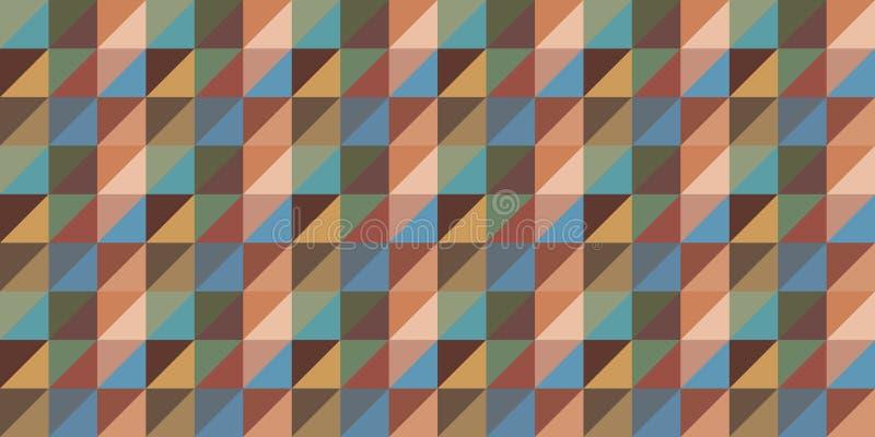 Repetición del fondo del papel pintado en triángulo y rayas o filas del cuadrado stock de ilustración