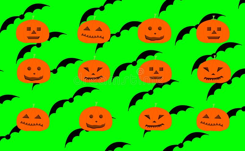 Repetición del modelo de las calabazas talladas de Halloween ilustración del vector