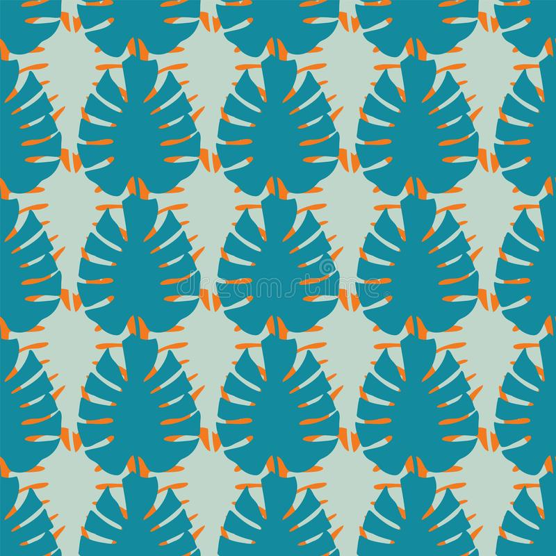 Repetición inconsútil del modelo de las hojas tropicales de Monstera del vector libre illustration